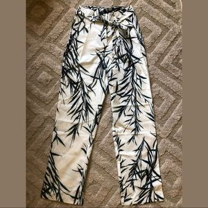 Leafy Trousers with Belt